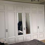 Для дома и интерьера ручной работы. Ярмарка Мастеров - ручная работа Шкаф классический белый с серебром на заказ. Handmade.