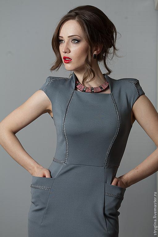 Платья ручной работы. Ярмарка Мастеров - ручная работа. Купить Платье Decollo grigio. Handmade. Серый, платье, джерси