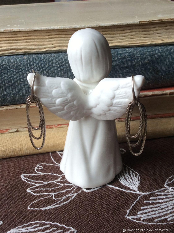 Винтаж: Серьги серебряные «Крылья ангела», Серьги винтажные, Москва,  Фото №1