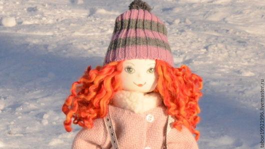 Коллекционные куклы ручной работы. Ярмарка Мастеров - ручная работа. Купить Рыжая девчонка с муфточкой. Handmade. Рыжий, недорогой подарок