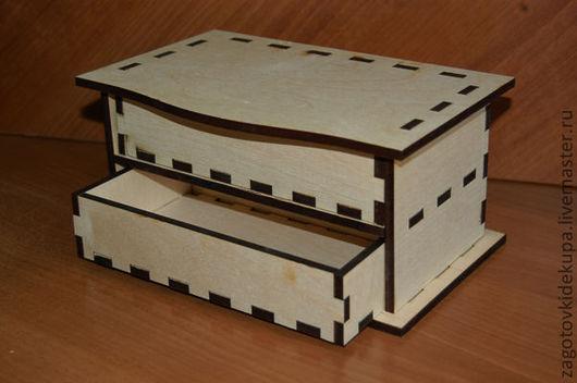 Комод на 2 ящика (продается в разобранном виде) Размер: 22х14х11 см Материал: фанера 6 мм