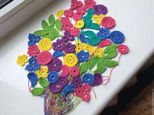 Аппликации, вставки, отделка ручной работы. Ярмарка Мастеров - ручная работа. Купить Цветочки и элементы для украшения одежды и скрапбукинга. Handmade.