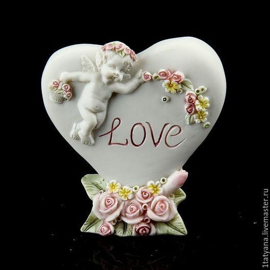 """Статуэтки ручной работы. Ярмарка Мастеров - ручная работа. Купить Статуэтка """" Ангел любви """". Handmade. Белый"""