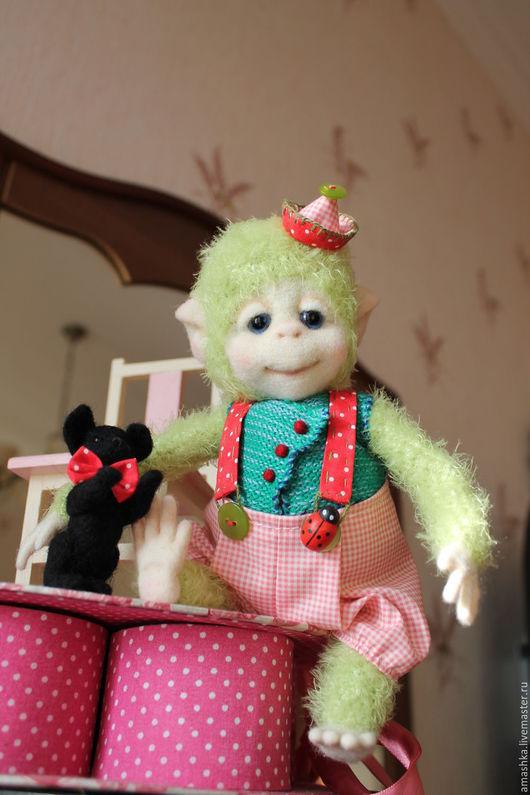 Мишки Тедди ручной работы. Ярмарка Мастеров - ручная работа. Купить Обезьянка тедди Клоун Пьерошка. Handmade. Комбинированный, подарок