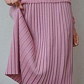 Одежда ручной работы. Ярмарка Мастеров - ручная работа Вязаная юбка-плиссе. Handmade.