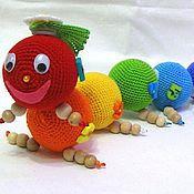Гусеница схема вязания