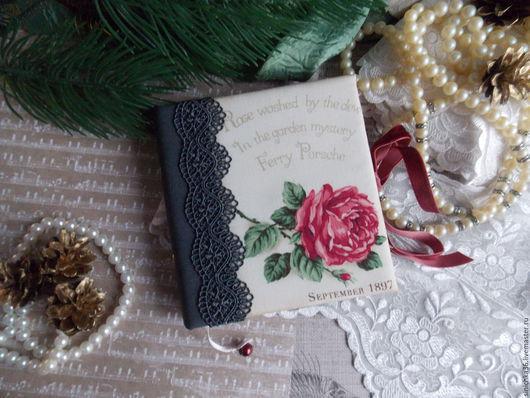 Блокноты ручной работы. Ярмарка Мастеров - ручная работа. Купить Блокнотики с розами 2. Handmade. Комбинированный, блокнот для девушки, винтаж