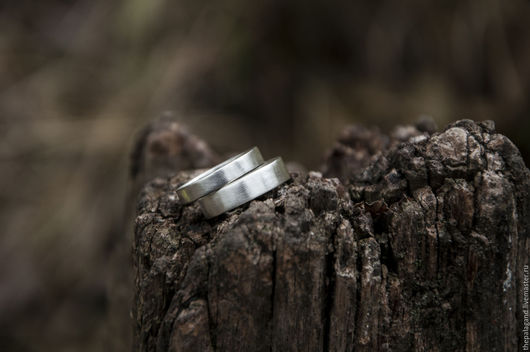 Кольца ручной работы. Ярмарка Мастеров - ручная работа. Купить Обручальные кольца из серебра: идеально матовые. Handmade. Любовь, серый