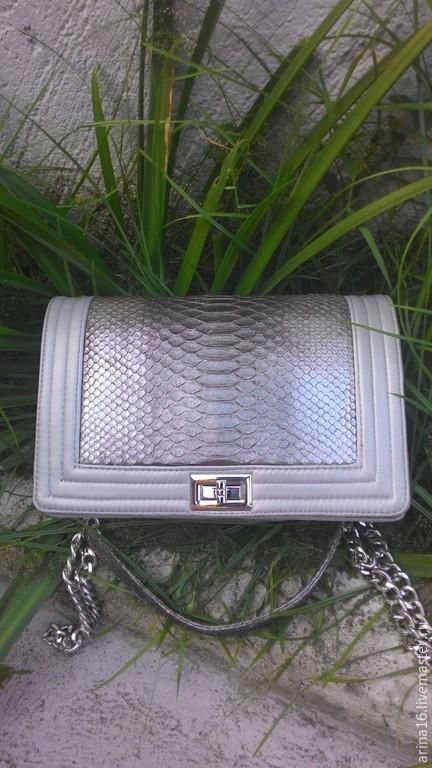 Женские сумки ручной работы. Ярмарка Мастеров - ручная работа. Купить сумочка серебро. Handmade. Серый, сумка ручной работы