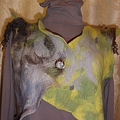 """Одежда ручной работы. Ярмарка Мастеров - ручная работа """"И на камнях растут деревья"""" валяный жилет. Handmade."""