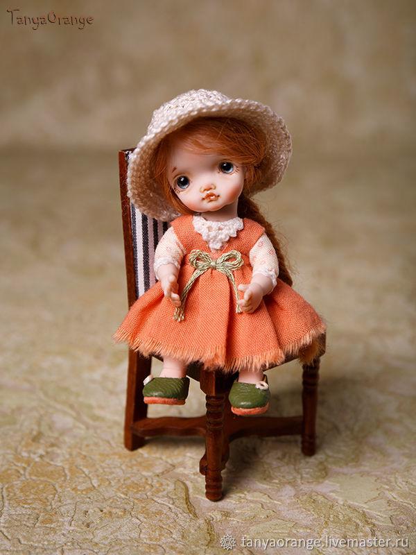Author's miniature doll 9cm, for a Dollhouse, Dolls, Nizhny Novgorod,  Фото №1