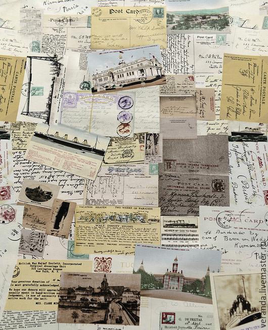 Ткань `старые письма`. `Веранда` - в уюте кантри и прованса