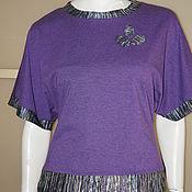 Одежда ручной работы. Ярмарка Мастеров - ручная работа Джемпер р.46-48 осень-весна трикотаж фиолет. Handmade.