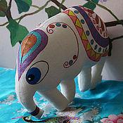"""Куклы и игрушки ручной работы. Ярмарка Мастеров - ручная работа Игрушка-подушка белый слон """"Лукреция"""". Handmade."""