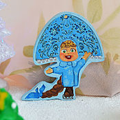 Сувениры и подарки handmade. Livemaster - original item Masha the snow maiden magnet, a suspension toy from the Masha and the bear series. Handmade.