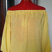 Одежда ручной работы. Ярмарка Мастеров - ручная работа блузка из  вискозы желтая. Handmade.