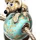 Для украшений ручной работы. Заказать Клуб мышат - Машка. Викторова Вера Lampwork. Ярмарка Мастеров. Бусины pandora, мышка