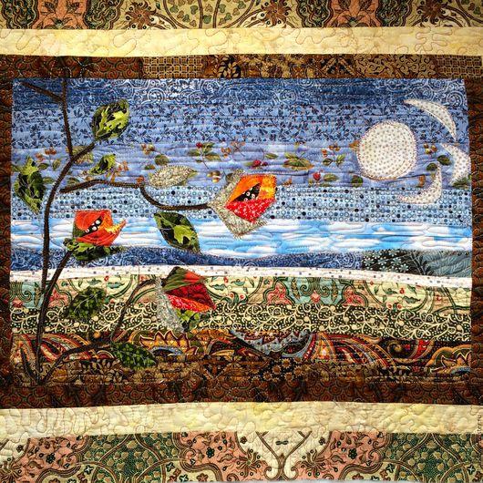 Текстиль, ковры ручной работы. Ярмарка Мастеров - ручная работа. Купить НЕБО лоскутная   подушка- антидепрессант. Handmade. Подушка, пейзаж
