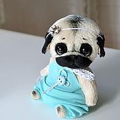 Куклы и игрушки ручной работы. Ярмарка Мастеров - ручная работа мопсичка Ширли. Handmade.