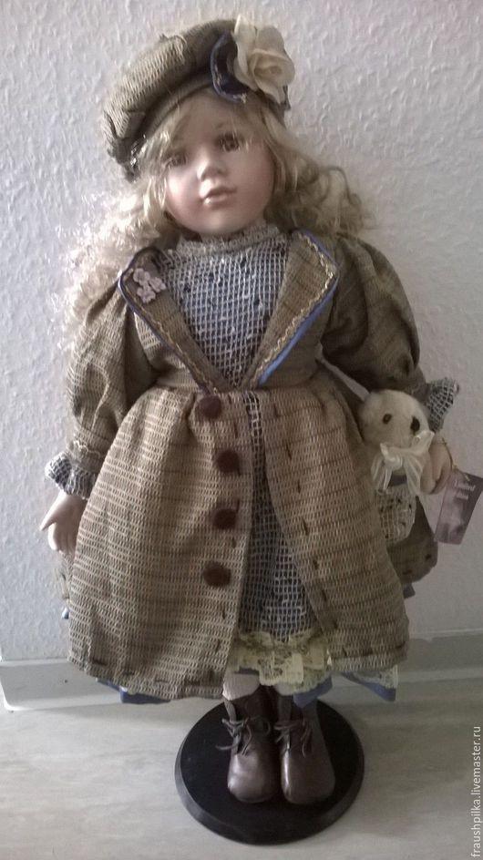 Винтажные куклы и игрушки. Ярмарка Мастеров - ручная работа. Купить Винтажная фарфоровая кукла 60см Лавандовые росы. Handmade.