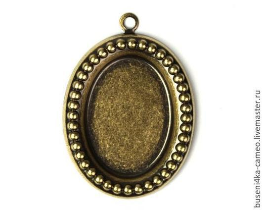 Для украшений ручной работы. Ярмарка Мастеров - ручная работа. Купить Оправа Бусинки 18х25мм, античная бронза (1шт). Handmade.
