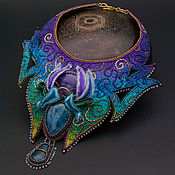 Necklace handmade. Livemaster - original item Avatar Pandora necklace stumpwork art glow in the dark. Handmade.