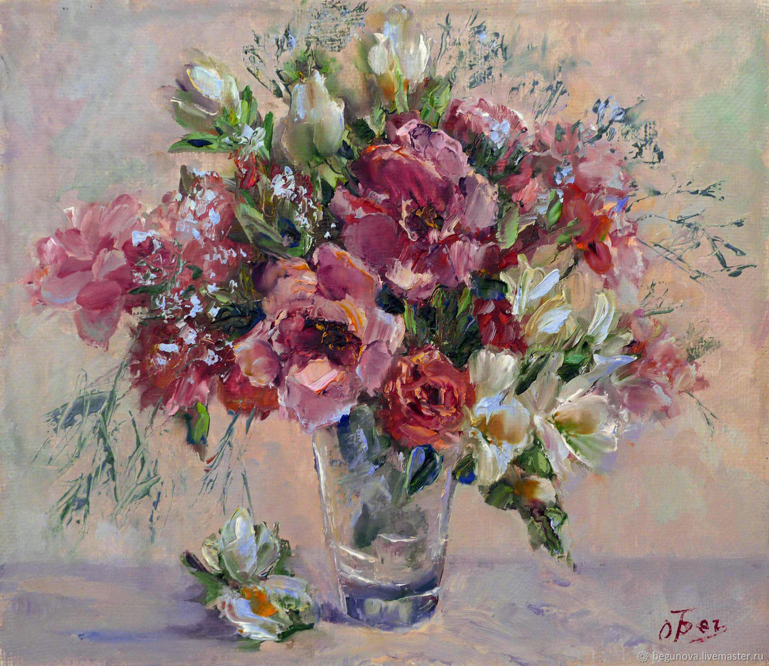 Oil painting wild flowers bouquet of flowers in a vase, order a picture, Pictures, Krasnodar,  Фото №1