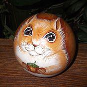 Куклы и игрушки handmade. Livemaster - original item Protein Ball tumbler musical Toy Squirrel. Handmade.