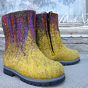 """Обувь ручной работы. Ярмарка Мастеров - ручная работа Валяные ботинки """" Мамина дочка """". Handmade."""