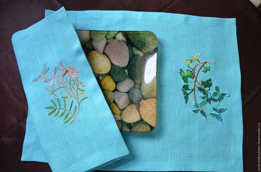 """Текстиль, ковры ручной работы. Ярмарка Мастеров - ручная работа. Купить Салфетки под тарелку """" Таинственный лес"""". Handmade."""