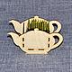 ЧД-04-001. Чайный короб `Чайник`. Можно использовать как конфетницу.