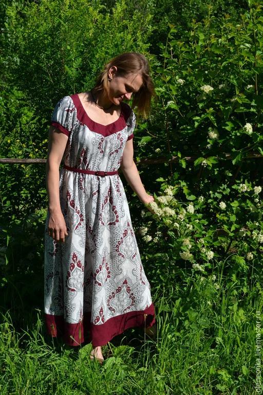 Платье с рисунком, Платья, Воротынец,  Фото №1