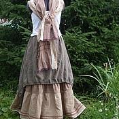 Одежда handmade. Livemaster - original item No. №018 Linen skirt boho. Handmade.