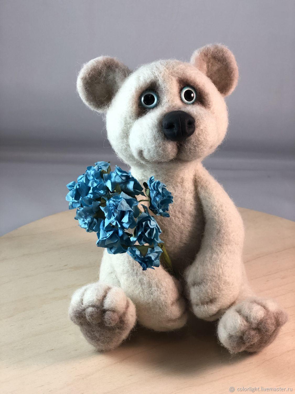 felt toy: White bear, Felted Toy, Zelenograd,  Фото №1