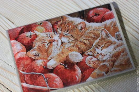 """Обложки ручной работы. Ярмарка Мастеров - ручная работа. Купить Обложка на паспорт """"Котятки"""". Handmade. Котята, кот, котики, котяра"""