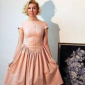 """Одежда ручной работы. Ярмарка Мастеров - ручная работа Коктейльное платье в ретро стиле """"Розовый кварц"""". Handmade."""