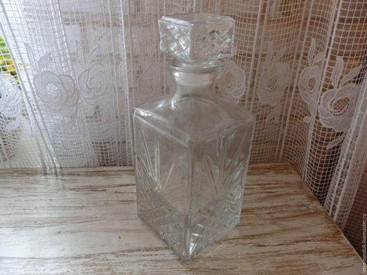 Винтажная посуда. Ярмарка Мастеров - ручная работа. Купить %Штоф хрустальный для виски или водки, СССР, 70-е годы. Handmade.