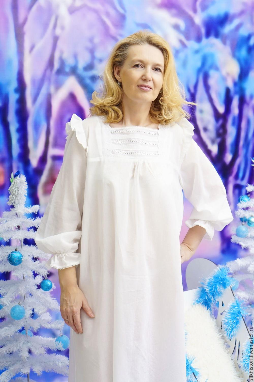 455b4fc99290 Ночная сорочка рубашка из батиста, сорочка Виктория – купить в  интернет-магазине ...