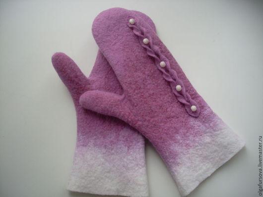 Варежки, митенки, перчатки ручной работы. Ярмарка Мастеров - ручная работа. Купить Варежки шерстяные. Handmade. Комбинированный, варежки валяные
