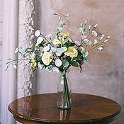 Композиции ручной работы. Ярмарка Мастеров - ручная работа Букет желтых садовых роз. Handmade.