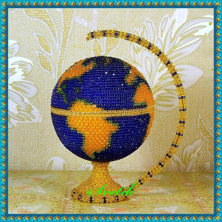 Глобус из бисера мастер класс с пошаговым