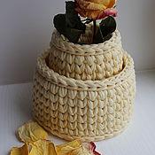 Для дома и интерьера ручной работы. Ярмарка Мастеров - ручная работа Интерьерная корзина. Handmade.