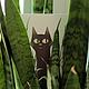"""Открытки на все случаи жизни ручной работы. Ярмарка Мастеров - ручная работа. Купить открытка """"кот в траве"""". Handmade. Открытка, postcrossing"""