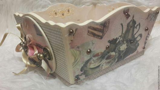 Кухня ручной работы. Ярмарка Мастеров - ручная работа. Купить Сухарница винтажная. Handmade. Комбинированный, бронзовая фурнитура