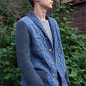 Одежда ручной работы. Ярмарка Мастеров - ручная работа Пиджак мужской вязаный. Handmade.