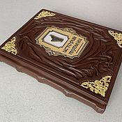Сувениры и подарки handmade. Livemaster - original item History of Music (leather book). Handmade.