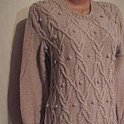 Одежда ручной работы. Ярмарка Мастеров - ручная работа Платье вязаное из шерсти.. Handmade.