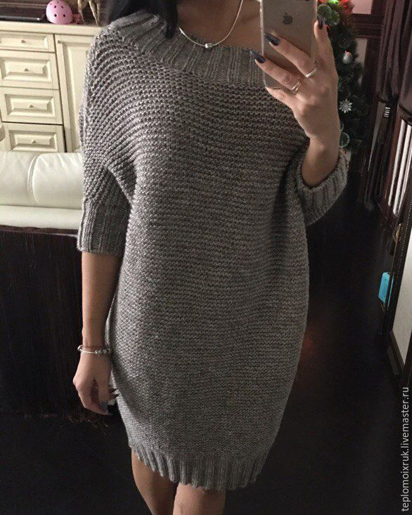 """Кофты и свитера ручной работы. Ярмарка Мастеров - ручная работа. Купить Платье - свитер """" Olga """". Handmade. Платье"""
