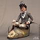 Портретные куклы ручной работы. Заказать Портретная кукла Яна и золотая рыбка. Авторская студия 'OleLoo'. Ярмарка Мастеров.