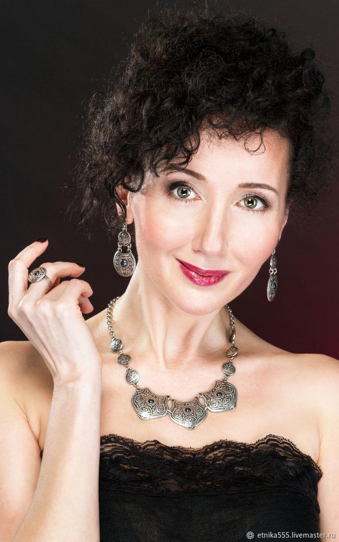 Amine necklace with hematite inserts, Necklace, Belaya Cerkov,  Фото №1